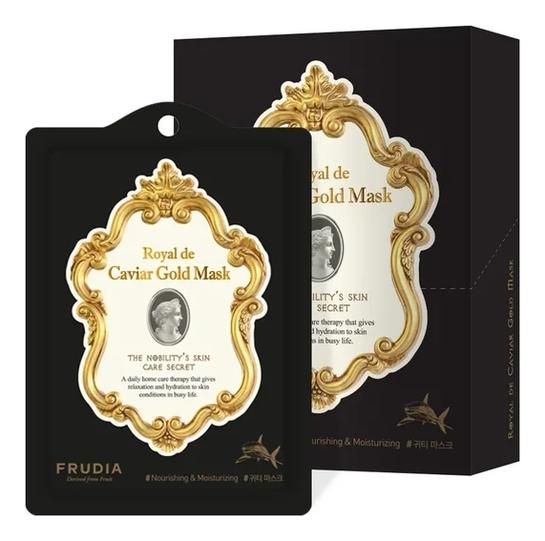 Омолаживающая маска для лица с экстрактом икры и золотом Royal De Caviar Gold Mask 25мл: Маска 10шт недорого