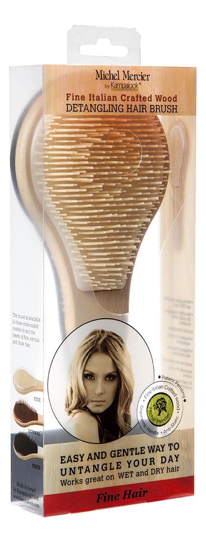 Щетка деревянная для тонких волос Wood Detangling Brush For Fine Hair
