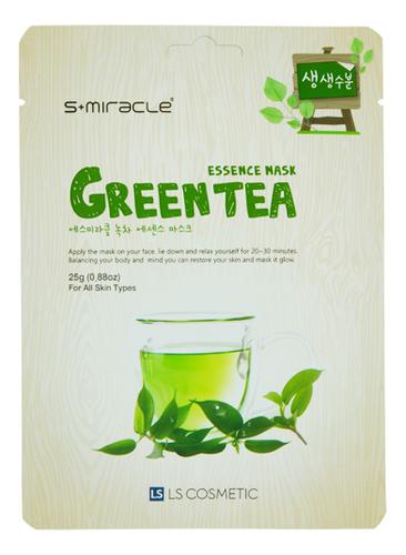 Купить Тканевая маска для лица с экстрактом зеленого чая S+Miracle Green Tea Essence Mask 25г, LS Cosmetic