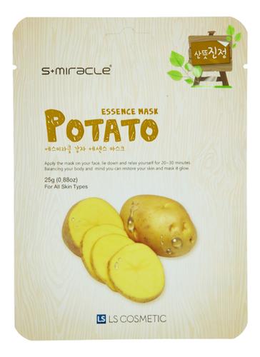 Тканевая маска для лица с экстрактом картофеля S+Miracle Potato Essence Mask 25г