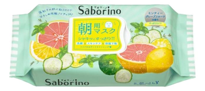 Купить Маска-салфетка для лица Освежающая Saborino Morning Facial Sheet Mask 32шт, BCL