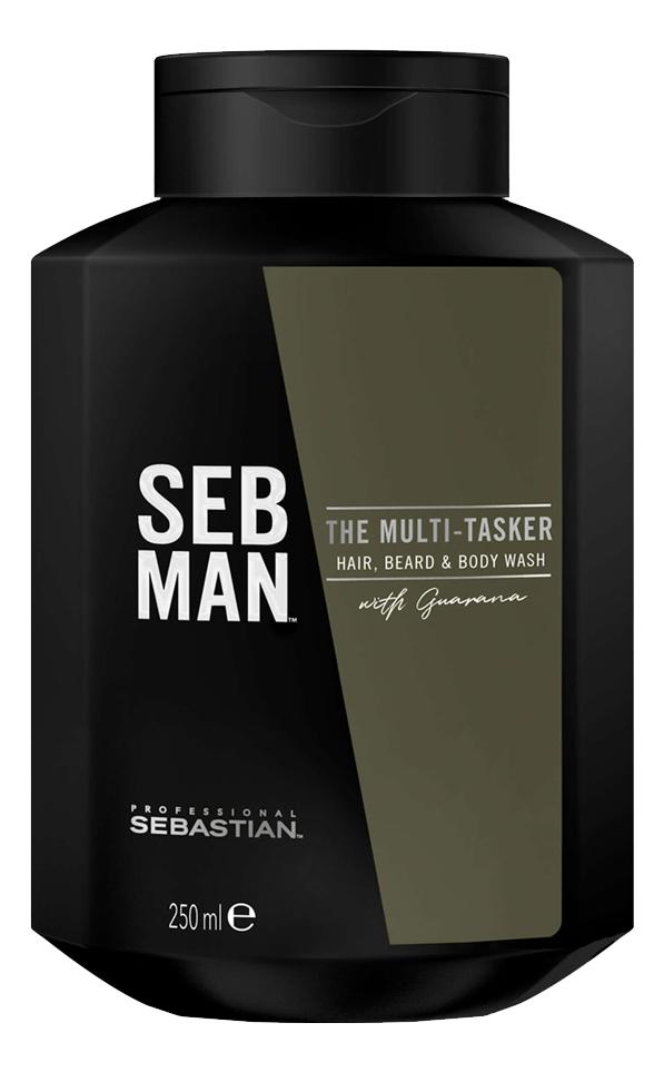 Купить Шампунь для ухода за волосами, бородой и телом Seb Man The Multi-Tasker Hair, Beard & Body Wash: Шампунь 250мл, Beard & Body Wash, Sebastian