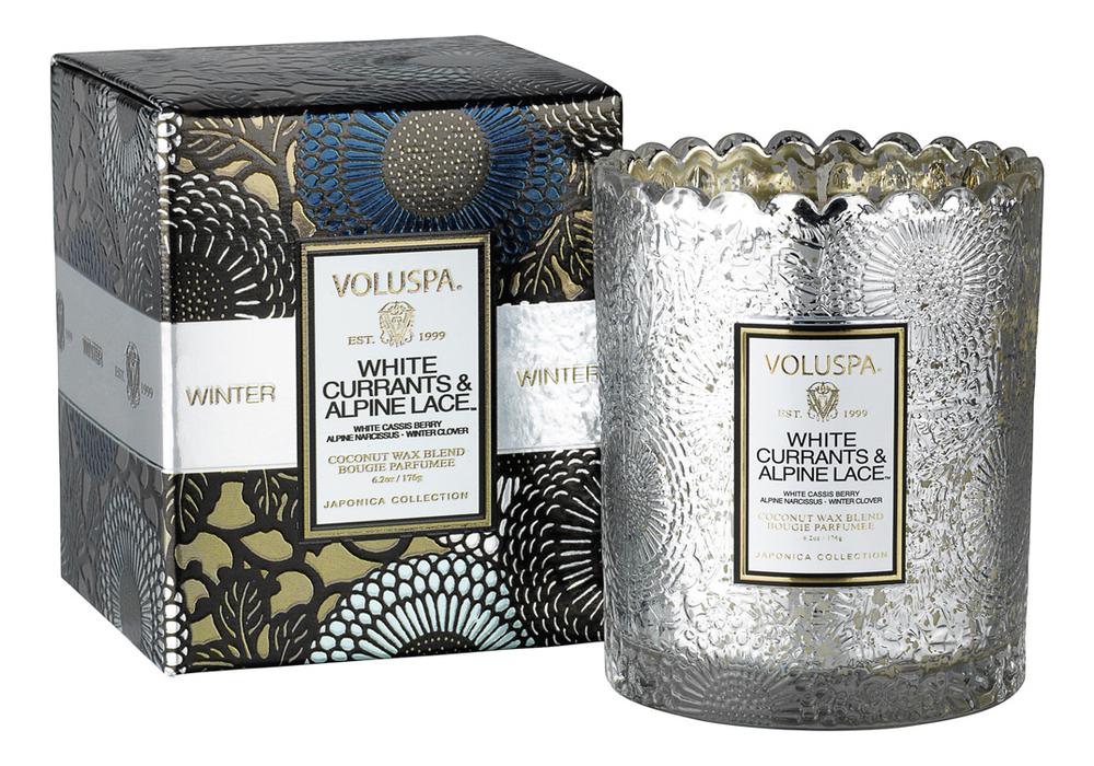 Ароматическая свеча White Currants & Alpine Lace (белая смородина и альпийские кружева): В подарочной коробке