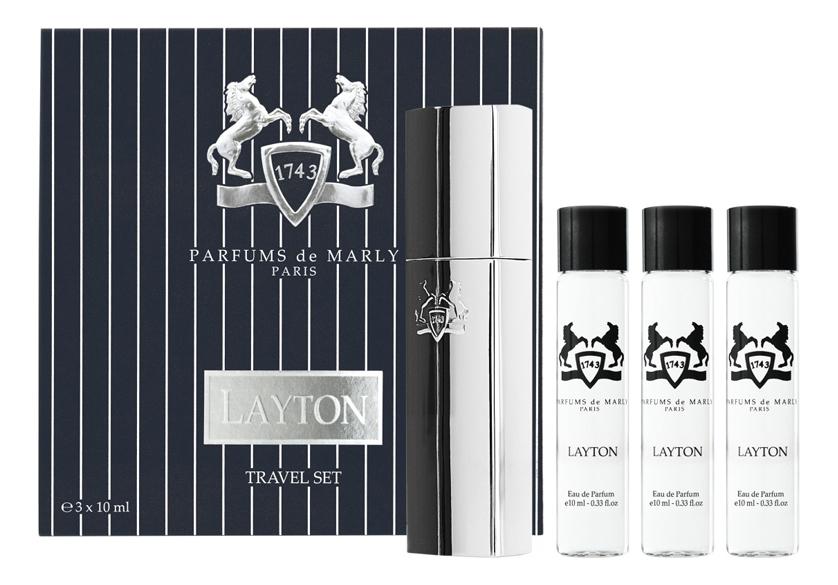 Layton: парфюмерная вода 3*10мл parfums de marly pegasus парфюмерная вода 3 10мл запаска