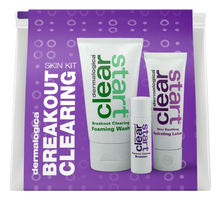 Dermalogica Набор для лица Breakout Clearing Clear Start (пенка Foaming Wash 75мл + средство Breakout Clearing Booster 10мл + лосьон Soothing Hydrating Lotion 30мл)