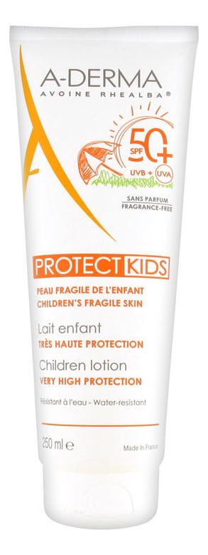 Солнцезащитный лосьон для детей с высокой степенью защиты Protect Kids Lait Enfant SPF50+ 250мл