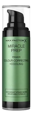 Праймер для лица Miracle Prep Colour-Correcting+Cooling Primer 30мл основа под макияж max factor miracle prep colour correcting cooling тон green 30 мл