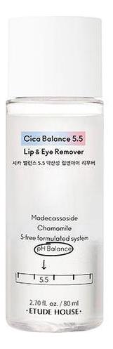 Купить Двухфазное очищающее средство для снятия макияжа с глаз и губ Cica Balance 5.5 Lip & Eye Remover 80мл, Двухфазное очищающее средство для снятия макияжа с глаз и губ Cica Balance 5.5 Lip & Eye Remover 80мл, Etude House