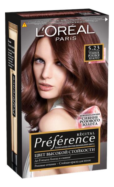 Купить Краска для волос Preference 60мл: 5.23 Розовый шоколад, L'oreal