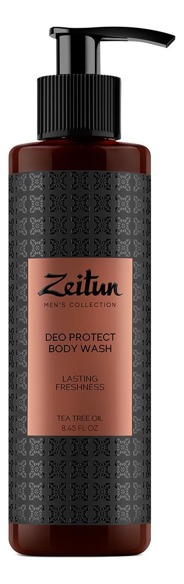 Гель для душа защитный с антибактериальным эффектом Масло чайного дерева Deo Protect Body Wash 250мл