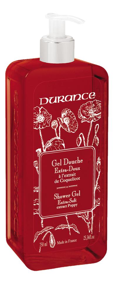 Купить Гель для душа Gel Douche Extra-Doux 750мл (мак), Durance