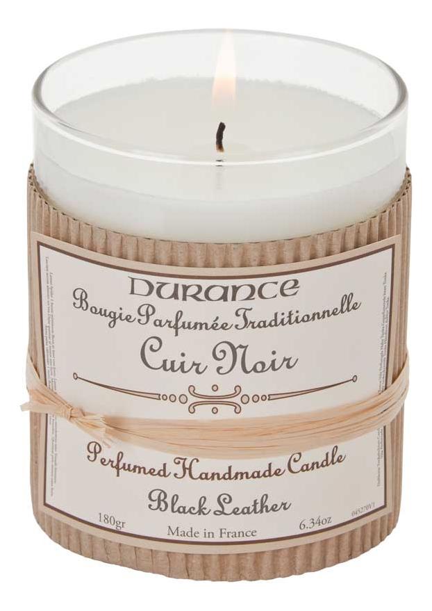 Купить Ароматическая свеча Perfumed Candle Black Leather 180г (черная кожа), Durance