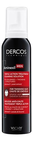 Средство против выпадения волос для мужчин Dercos Aminexil Men Foaming Solution 150мл vichy ампулы против выпадения волос купить