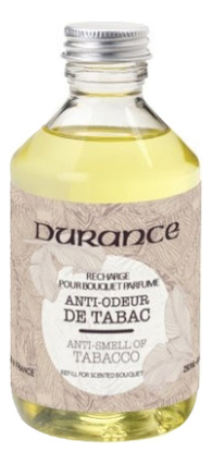 Купить Наполнитель для аромадиффузора Refill For Reed Diffuser Anti Tobacco Smells 250мл (антитабак), Durance