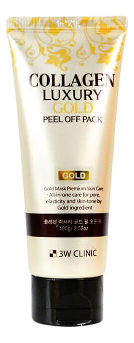 Маска-пленка для очищения лица с коллагеном Collagen Luxury Gold Peel Off Pack 100мл недорого