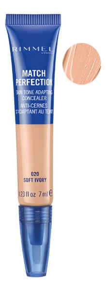Купить Консилер для лица Match Perfect Concealer 7г: 020 Soft Ivory, Rimmel