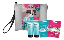 AHAVA Набор Fun Gift Celebration (маска Clearing Facial Treatment Mask 6мл + маска Brightening&Hydrating Mask 6мл + крем Mineral Hand Cream Sea-Kissed 40мл + гель для душа Mineral Shower Gel Sea-Kissed 40мл)