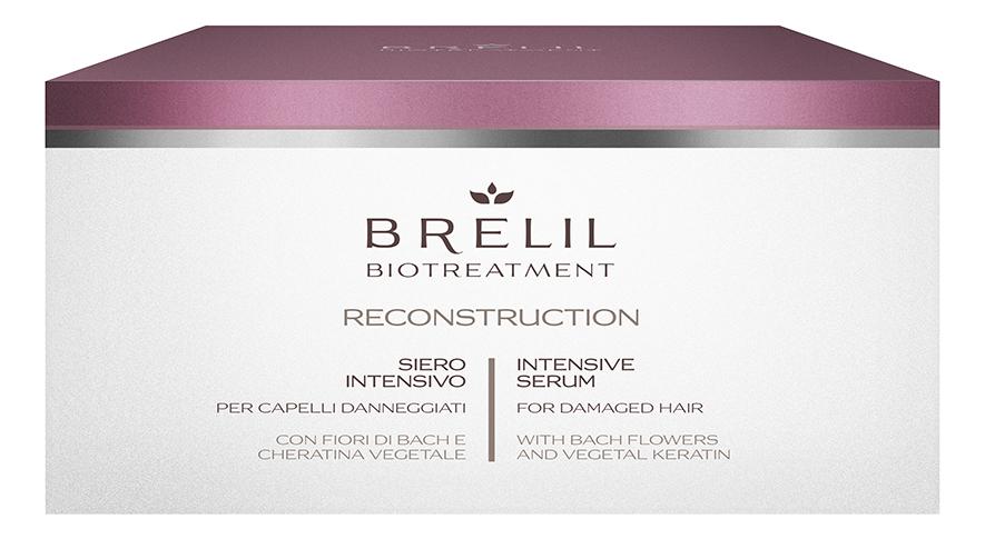Фото - Восстанавливающая сыворотка для волос интенсивного действия Bio Treatment Reconstruction Intensive Serum 10*15мл маска для волос восстанавливающая bio traitement reconstruction mask 200мл
