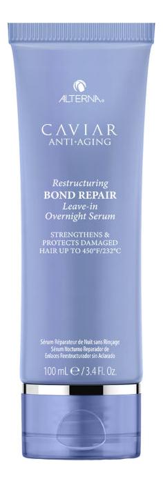 Регенерирующая ночная сыворотка для омоложения волос Caviar Anti-Aging Restructuring Bond Repair Leave-in Overnight Serum 100мл