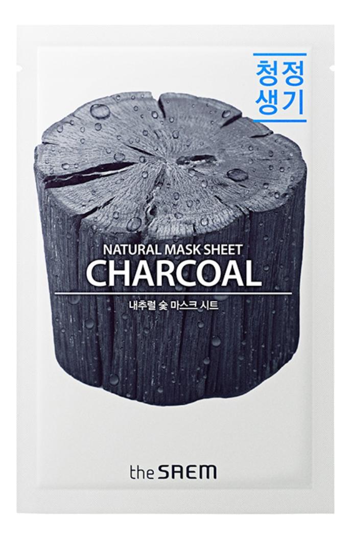 Тканевая маска с древесным углем Natural Charcoal Mask Sheet 21мл тканевая маска для лица с древесным углем fresh charcoal mask sheet