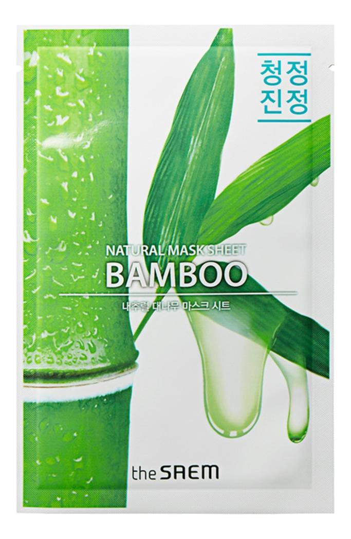 Купить Тканевая маска с экстрактом бамбука Natural Bamboo Mask Sheet 21мл, The Saem