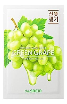 Купить Тканевая маска с экстрактом винограда Natural Green Grape Mask Sheet 21мл, The Saem