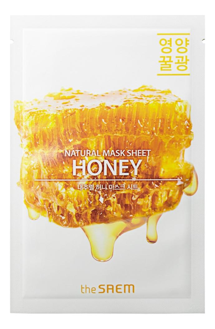 Купить Тканевая маска с экстрактом меда Natural Honey Mask Sheet 21мл, The Saem