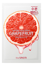 The Saem Тканевая маска с экстрактом грейпфрута Natural Grapefruit Mask Sheet 21мл