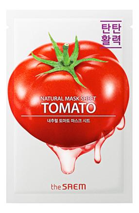 Купить Тканевая маска с экстрактом томата Natural Tomato Mask Sheet 21мл, The Saem