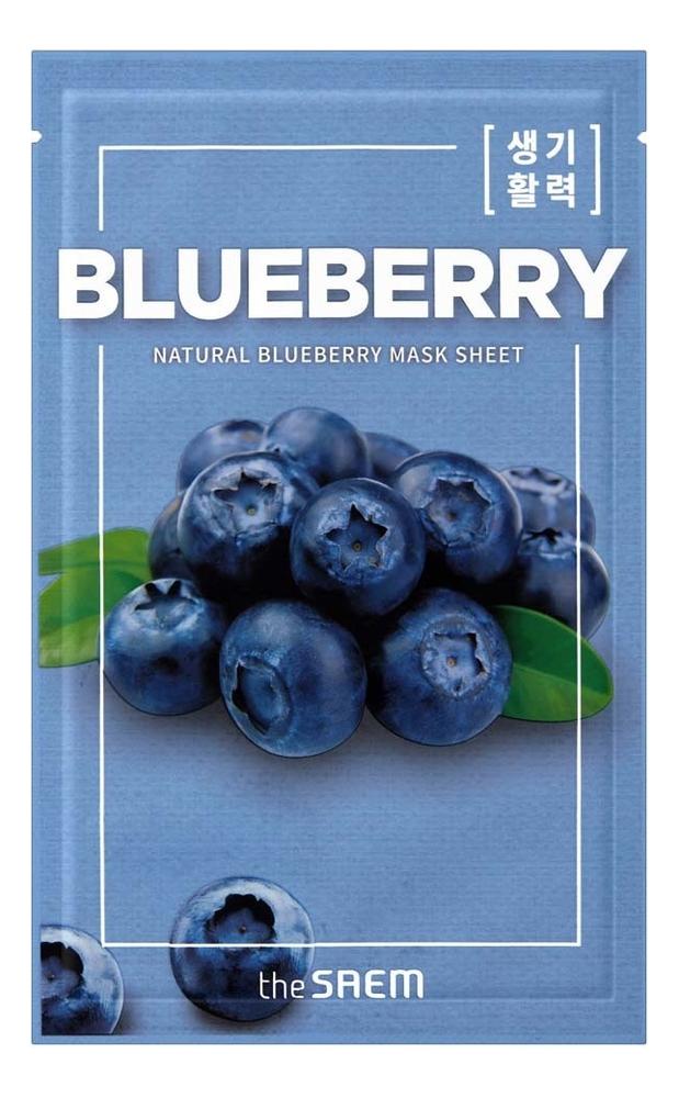 Купить Тканевая маска с экстрактом черники Natural Blueberry Mask Sheet 21мл, The Saem