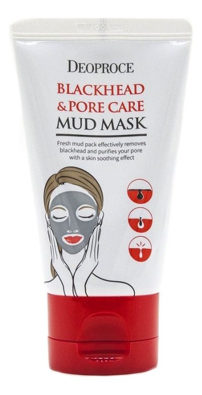 Грязевая маска для лица против черных точек Blackhead & Pore Care Mud Mask 60г