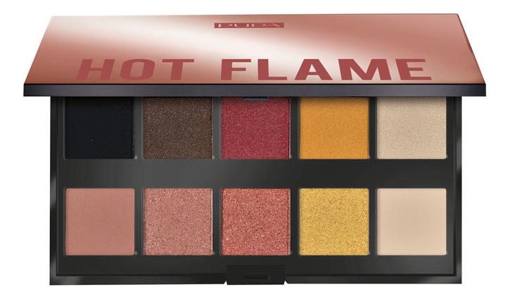 Палетка теней для век Make Up Stories 18г: 002 Hot Flame