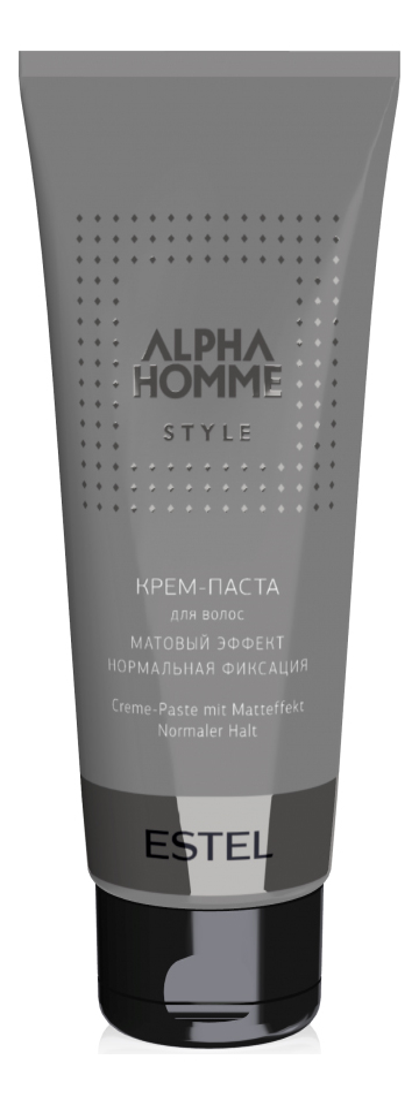 Крем-паста для волос с матовым эффектом Alpha Homme Style 100мл гель крем для лица alpha homme genwood hydro 50мл