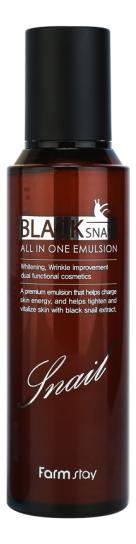 Купить Эмульсия для лица с муцином черной улитки Black Snail All In One Emulsion 150мл, Farm Stay