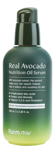 Купить Сыворотка для лица с маслом авокадо Real Avocado Nutrition Oil Serum 100мл, Farm Stay