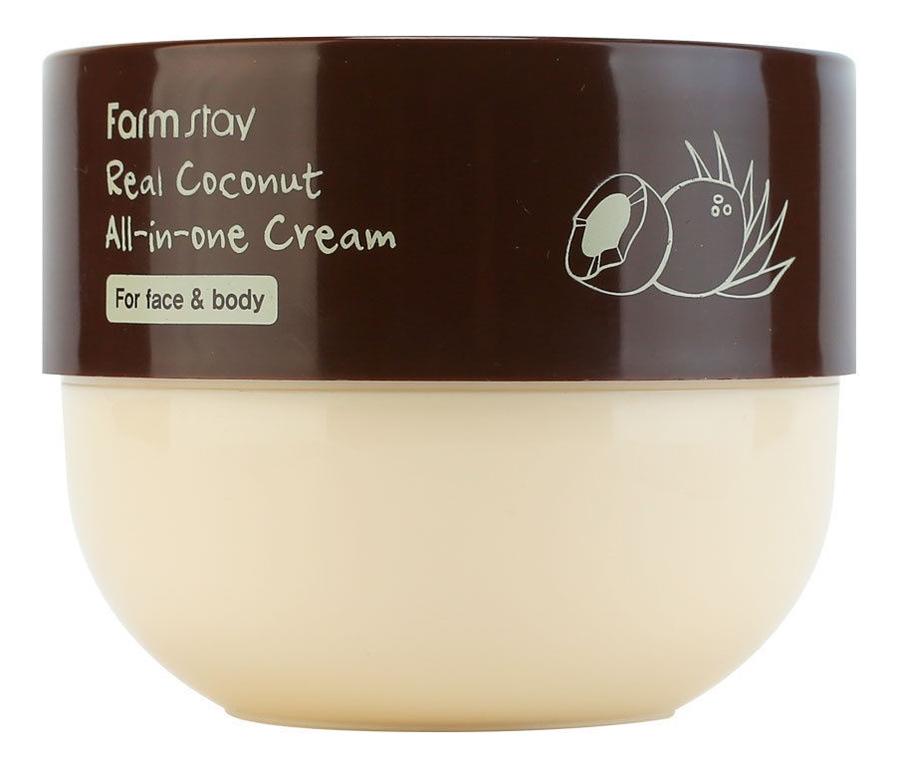 Многофункциональный крем для лица и тела с экстрактом кокоса Real Coconut All-in-one Cream 300мл