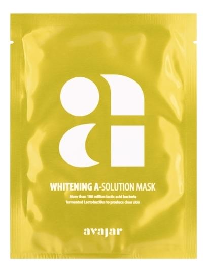 Осветляющая тканевая маска для лица Whitening A-Solution Mask 10*25г фото