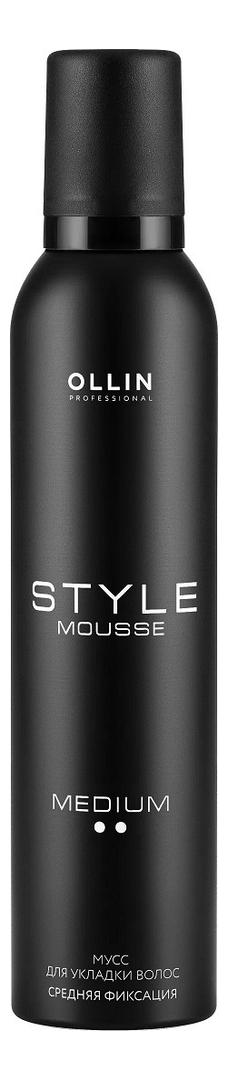 Купить Мусс для укладки волос средней фиксации Style Mousse Medium Hold 250мл, OLLIN Professional