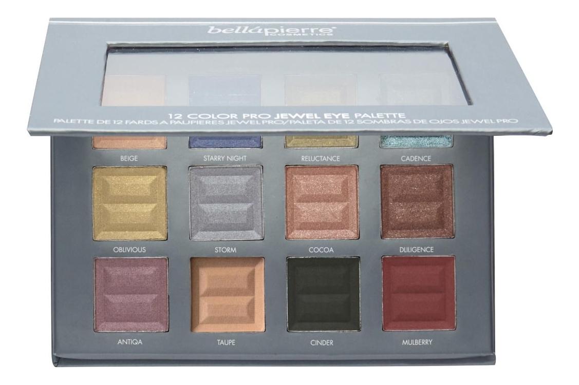Палетка теней для век 12 Color Pro Jewel Eye Palette 17,28г палетка теней для век icon pro palette aip01 sahara sunset