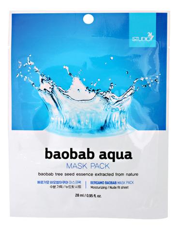 Тканевая маска для лица Baobab Aqua Mask Pack 28мл: Маска 1шт тканевая маска для лица с экстрактом баобаба bergamo baobab aqua mask pack 28ml