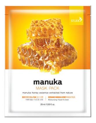 Тканевая маска для лица Manuka Honey Mask Pack 28мл: Маска 1шт тканевая маска для лица с экстрактом баобаба bergamo baobab aqua mask pack 28ml