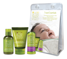 Little Green Набор для детей от 0 до 12 месяцев Baby Travel Essentials (шампунь Shampoo & Body Wash 60мл + лосьон для тела Nourishing Body Lotion 60мл + бальзам для губ и лица Soothing Balm 13г)