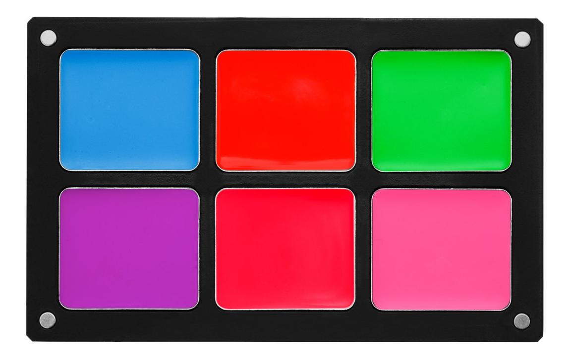 Водостойкая кремовая палетка для макияжа Waterproof Cream Palettes: Vivid Palette