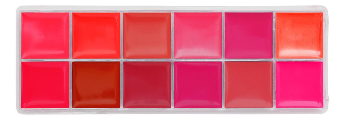 Палетка кремовых помад для губ Luxe Cream Lip Palette 12*4г: The Feminist