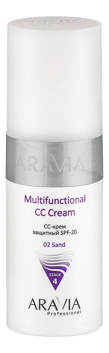 Купить CC-крем защитный Professional Multifunctional CC Cream SPF20 Stage 4 150мл: 02 Sand, Aravia