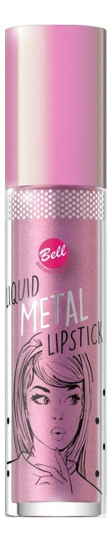 Жидкая помада для губ с эффектом металлик Liquid Metal Lipstick 4мл: No 02
