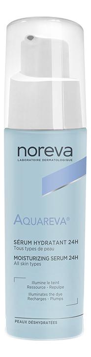 Купить Увлажняющая сыворотка для лица Aquareva Moisturizing Serum 24H 30мл, Noreva