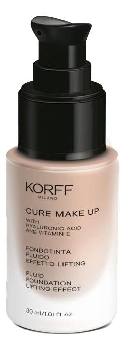 Тональная эмульсия с лифтинг эффектом Cure Make Up Fluid Foundation Lifting Effect 30мл: No 01