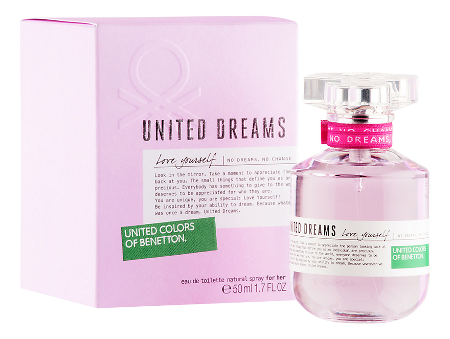 Benetton United Dreams Love Yourself : туалетная вода 50мл benetton ud love yourself benetton