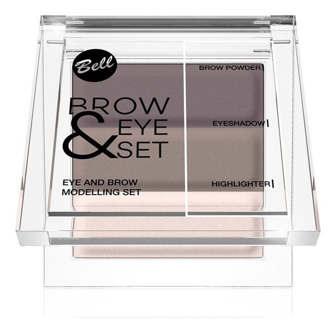Палетка теней для моделирования бровей и макияжа глаз Brow & Eye Modelling 3,3г: No 1